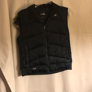 North Face hooded vest